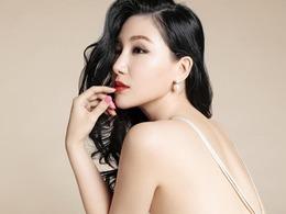 刘梓妍卷发红唇小露酥胸