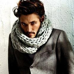 秋冬型男巧搭配 一条围巾就搞定