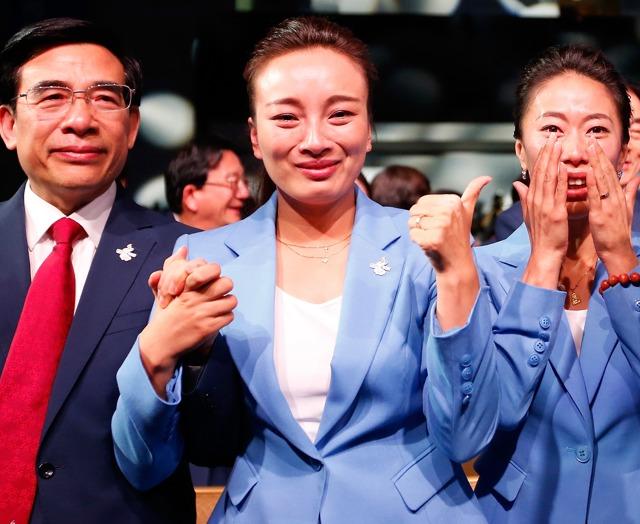 申冬奥成功代表团成员喜极而泣
